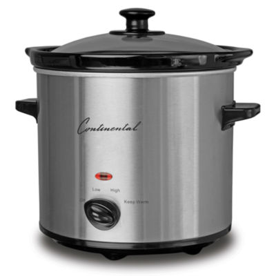 Continental Electric 2-Quart Round Slow Cooker