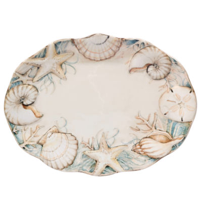 Certified International Coastal View Serving Platter
