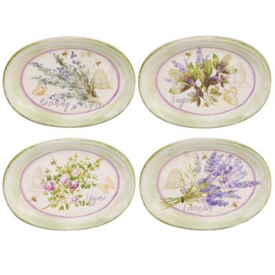 Certified International Herbes De Provence 4-pc. Appetizer Plate