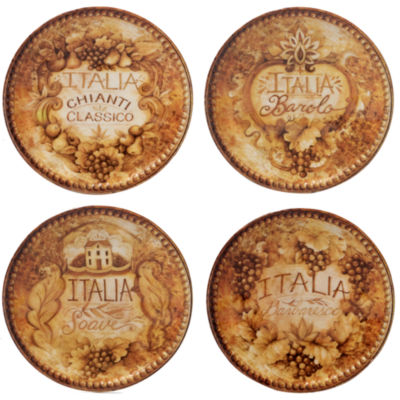 Certified International Gilded Wine 4-pc. Appetizer Plate