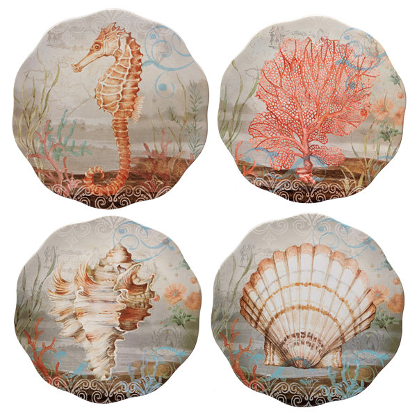 Certified International Coastal 4-pc. Salad Plate
