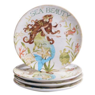 Certified International Sea Beauty 4-pc. Dessert Plate
