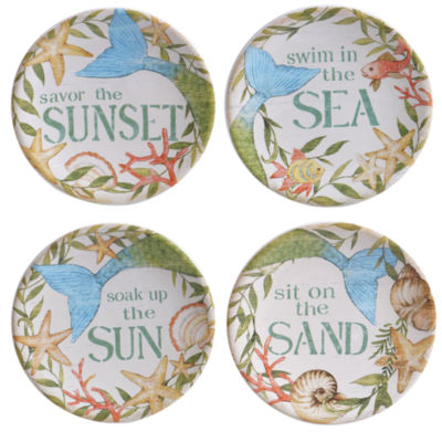 Certified International Sea Beauty 4-pc. Appetizer Plate