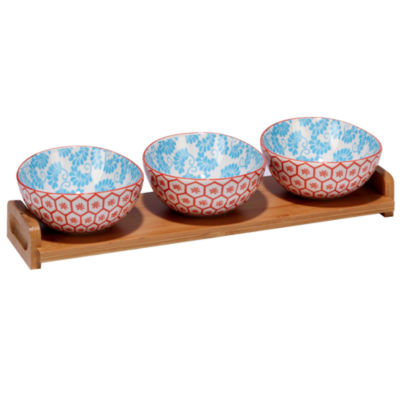 Certified International Honeycomb 4-pc. Serving Set
