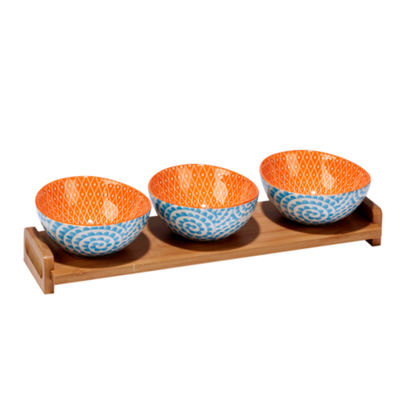 Certified International Aqua Swirl 4-pc. Serving Set