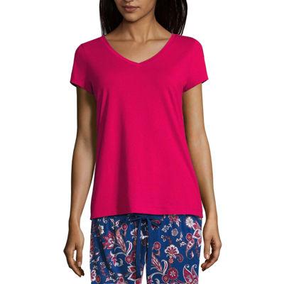 Liz Claiborne Womens Jersey Pajama Top