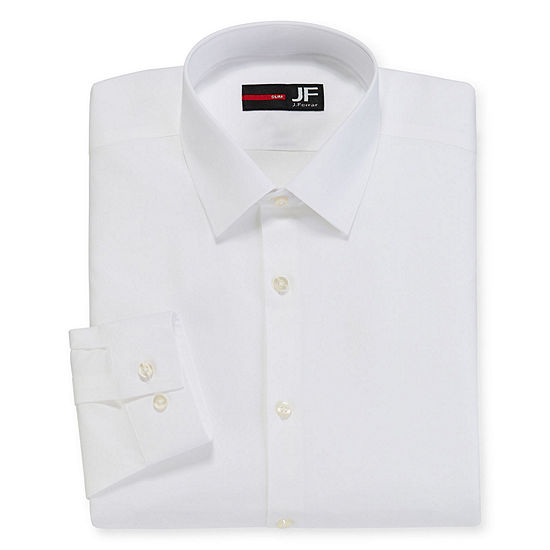 JF J.Ferrar Easy-Care Stretch Mens Long Sleeve Stretch Dress Shirt