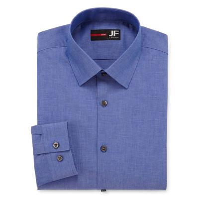 JF J.Ferrar Easy-Care Stretch Long Sleeve Broadcloth Dress Shirt- Big & Tall