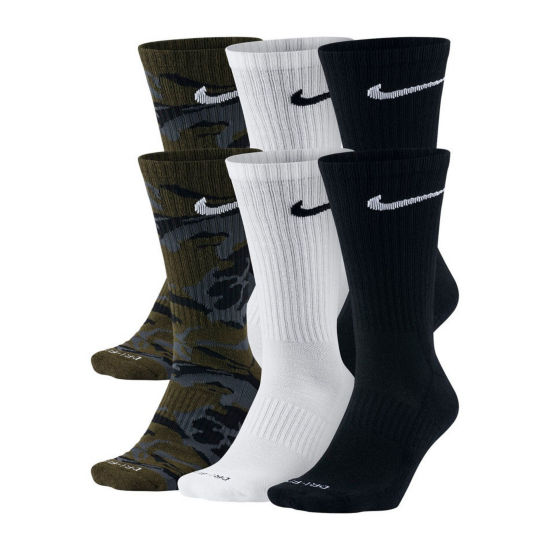Nike® Mens 6-pk. Dri-FIT Mix Camo Crew Socks