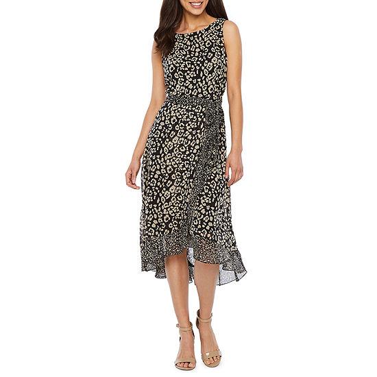 Studio 1 Sleeveless Animal Fit & Flare Dress