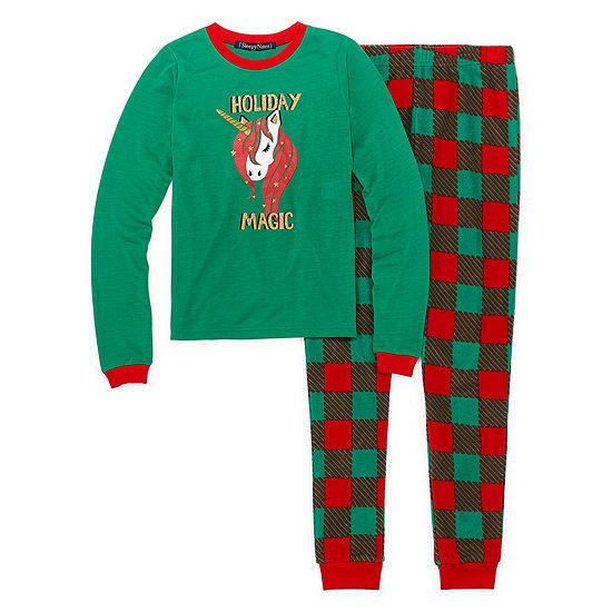 Sleepy Nites Buffalo Check Family Girls 2-pc. Pant Pajama Set Preschool / Big Kid