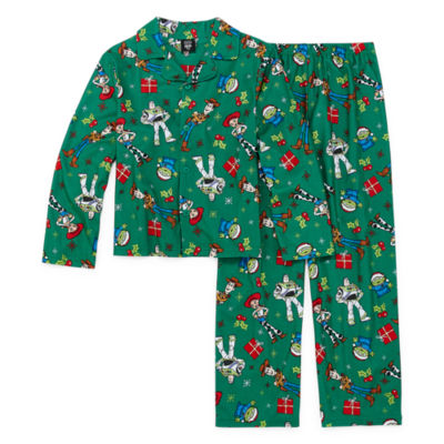 Disney Toy Story Family Unisex Kids 2 Piece Coat Front Pajama - Preschool/Big Kid