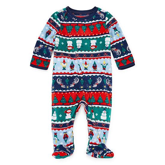 North Pole Trading Co. Fun Fairisle Family 1 Piece Footed Pajama -Unisex Baby
