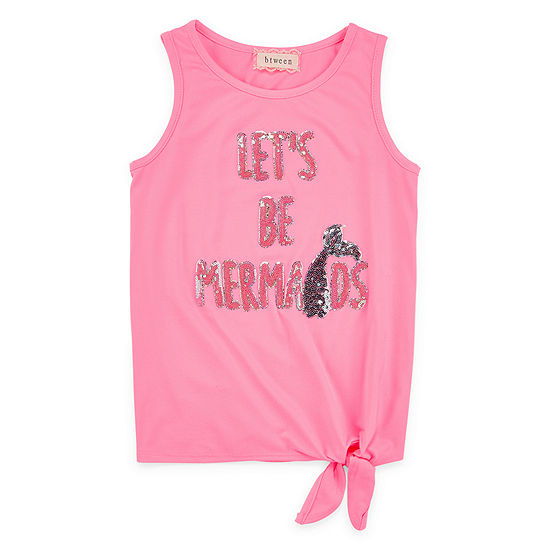 Btween Girls Round Neck Tank Top - Big Kid