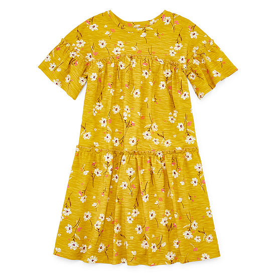 Arizona Girls Short Sleeve Shift Dress - Preschool / Big Kid