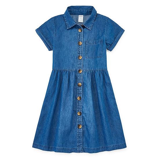 Arizona Girls Short Sleeve Cap Sleeve Shirt Dress