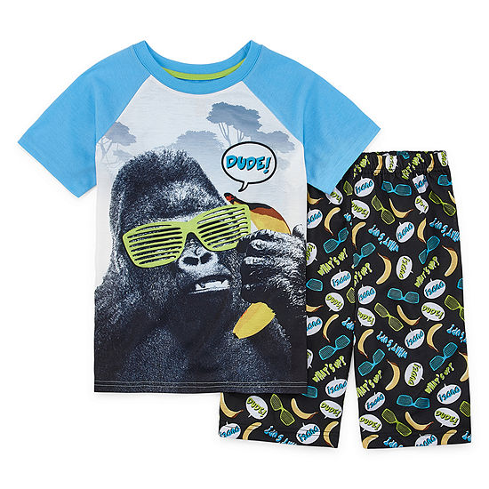 Rene Rofe Beast Mode Boys 2-pc. Shorts Pajama Set Preschool / Big Kid