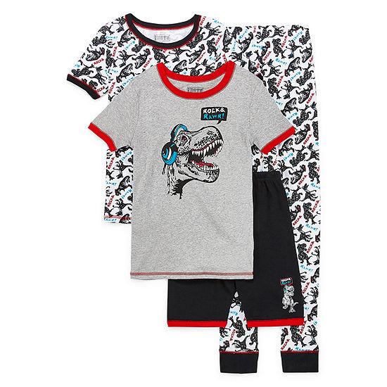 Only Boys 4-pc. Pajama Set Preschool / Big Kid