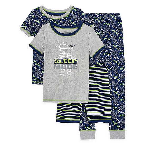 Only Boys 4-pc. Pajama Set Preschool / Big Kid