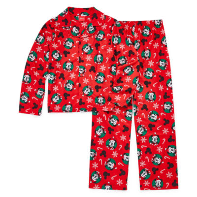 Disney Mickey Family Boys 2 Piece Coat Front Pajama Set - Preschool/Big Kid