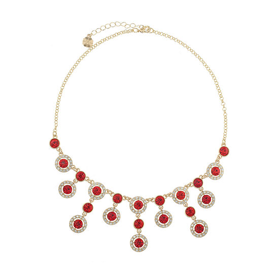 Monet Jewelry Halo Effect 17 Inch Cable Round Statement Necklace