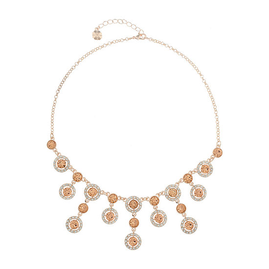 Monet Jewelry Halo Effect Orange 17 Inch Cable Statement Necklace