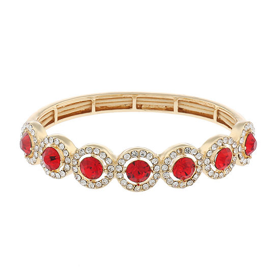 Monet Jewelry Halo Effect Red Round Stretch Bracelet