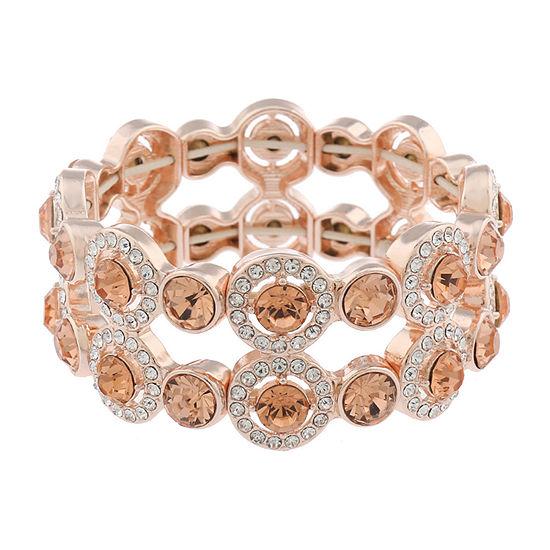 Monet Jewelry Halo Effect Orange Round Stretch Bracelet