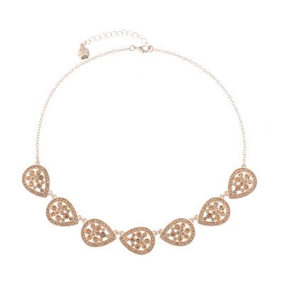 Monet Jewelry Golden Hour Womens Orange Collar Necklace