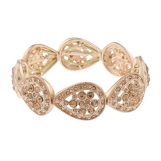 Monet Jewelry Golden Hour Orange Stretch Bracelet