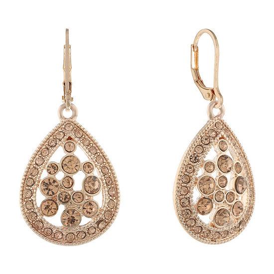 Monet Jewelry Golden Hour Orange Drop Earrings