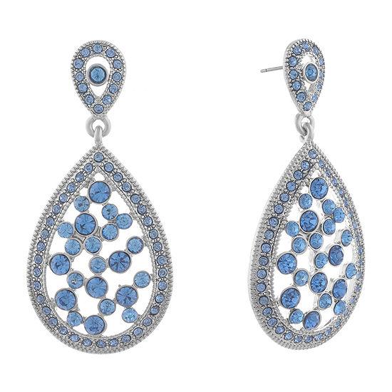 Monet Jewelry Golden Hour 1 Pair Blue Drop Earrings