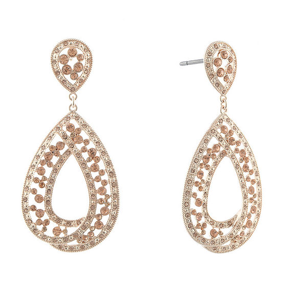 Monet Jewelry Golden Hour 1 Pair Orange Drop Earrings