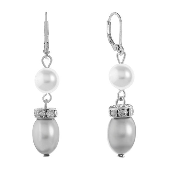 Monet Jewelry Gray Drop Earrings