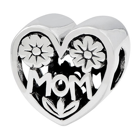 "PS Personal Style ""Mom"" Sterling Silver Bead, One Size"