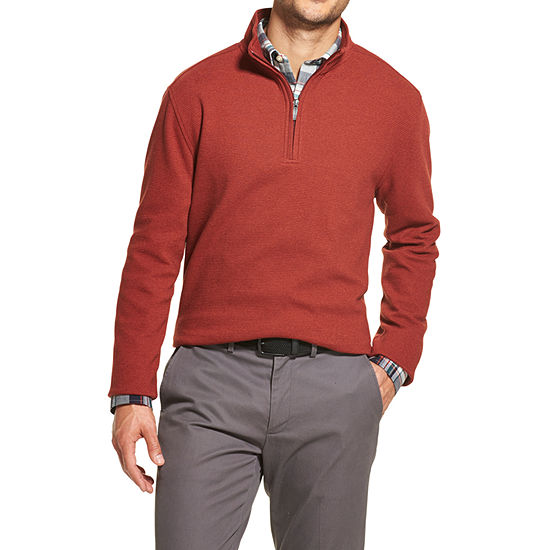 Van Heusen Never Tuck Quarter-Zip Fleece Pullover