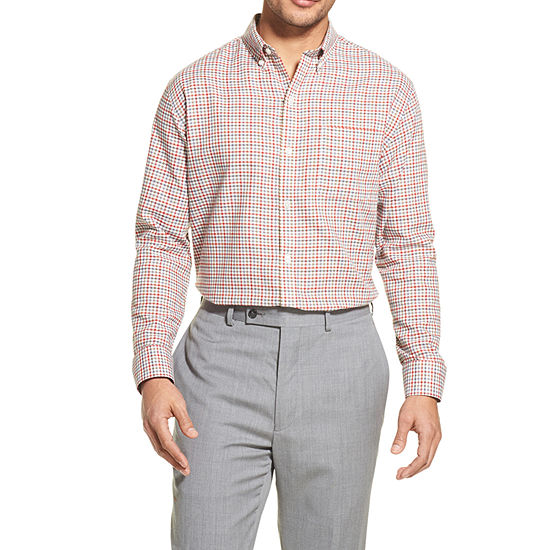 Van Heusen Flex Mens Long Sleeve Button-Front Shirt