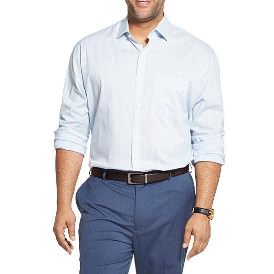 Van Heusen Big and Tall Mens Long Sleeve Button-Down Shirt