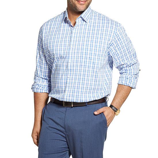 Van Heusen Big and Tall Mens Long Sleeve Button-Front Shirt