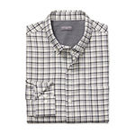 Van Heusen Big and Tall Mens Long Sleeve Plaid Button-Front Shirt