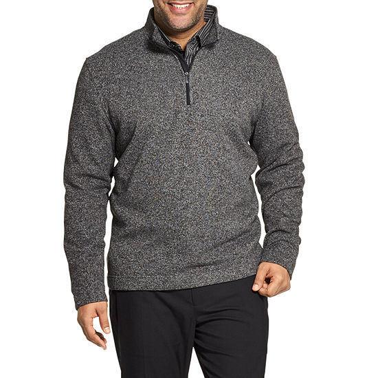 Van Heusen Big and Tall Mens Mock Neck Long Sleeve Sweatshirt