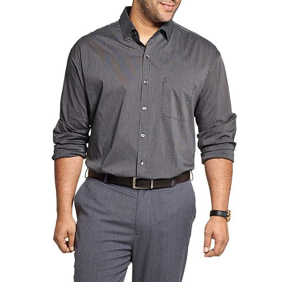 Van Heusen Big And Tall Mens Button Front Shirt