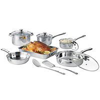 Deals on Cooks 21-pc. Stainless Steel Cookware Set