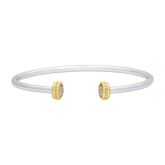 Marvel Universe Fine Jewelry By Marvel Genuine Yellow Topaz 14K Two Tone Gold Over Silver Marvel Bangle Bracelet