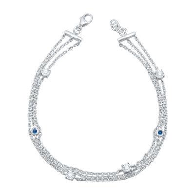 Universe Fine Jewelry By Marvel Diamond Accent Genuine Red Topaz 7.5 Inch Tennis Bracelet