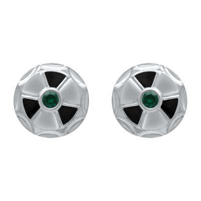 Universe Fine Jewelry By Marvel Genuine Green Topaz 7.6mm Hulk Stud Earrings