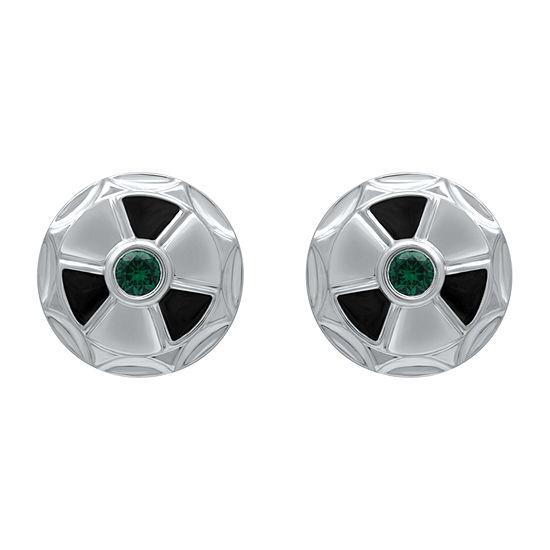 Marvel Universe Fine Jewelry By Marvel Genuine Green Topaz Sterling Silver 7.6mm Hulk Stud Earrings