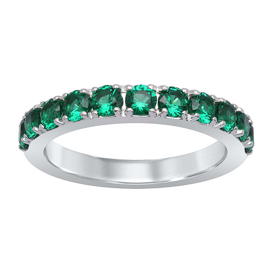 Universe Fine Jewelry By Marvel Womens Genuine Green Topaz Round Cocktail Ring