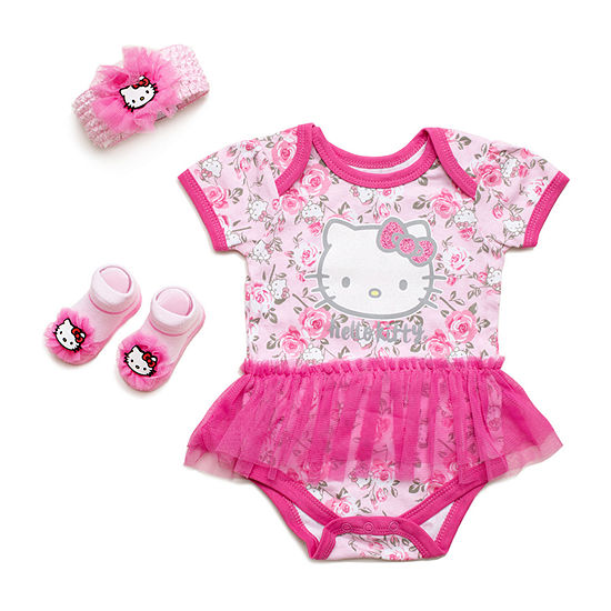 9028fa30d Hello Kitty 3-pc. Hello Kitty Baby Clothing Set-Baby Girls - JCPenney