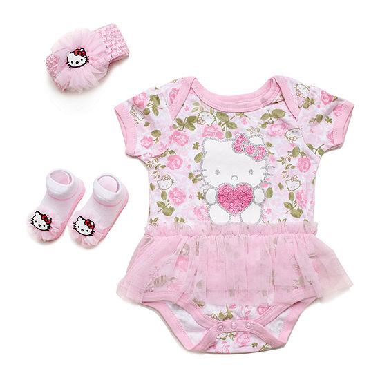 Hello Kitty Girls 3-pc. Hello Kitty Baby Clothing Set-Baby